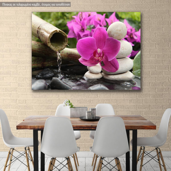 Canvas print Over the water