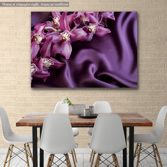 Canvas print Beautiful trendy violet silk
