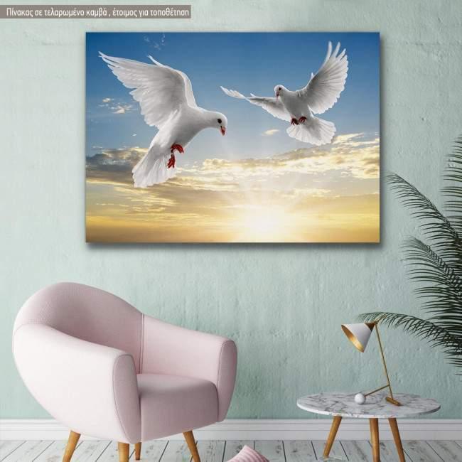 Canvas print Doves