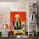 Canvas print Red tulip heart