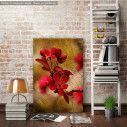 Canvas print Card with red flowers