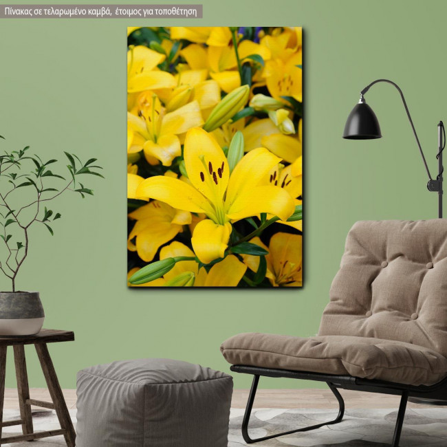 Canvas print Yellow lilies