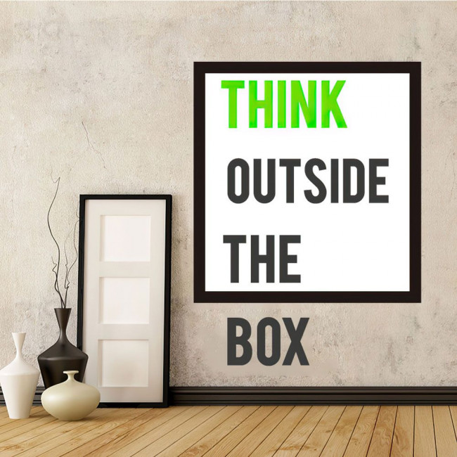 Wall stickers phrases. Think outside the box