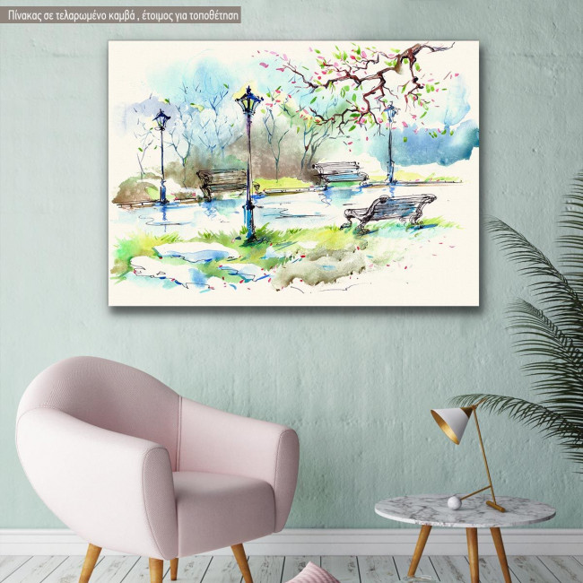Canvas print Spring in the city