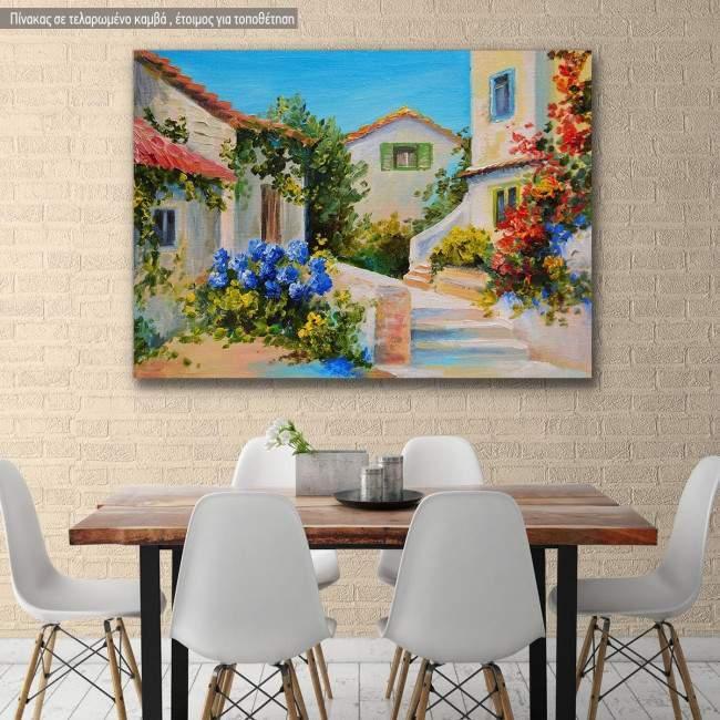 Canvas print, Beautiful houses near the sea
