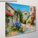 Canvas print, Beautiful houses near the sea, side