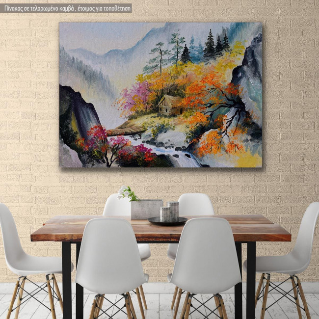 Canvas print House at mountain, House in the mountains
