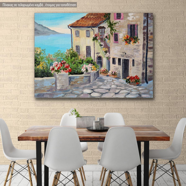 Canvas print, Beautiful houses near the sea II