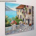 Canvas print, Beautiful houses near the sea II, side