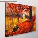 Canvas print Park, Autumn park, side