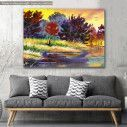 Canvas print River at forest, River in the forest