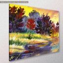 Canvas print River at forest, River in the forest, side