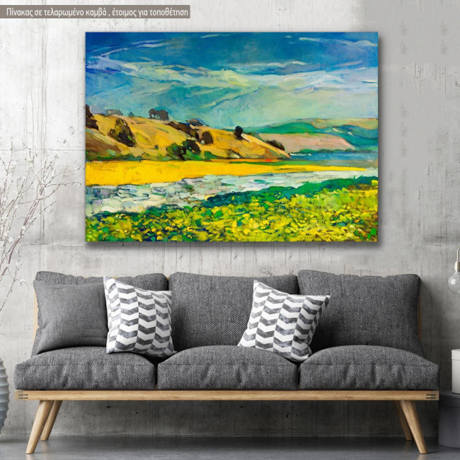 Canvas print Scenery, Mountain and river