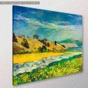 Canvas print Scenery, Mountain and river, side