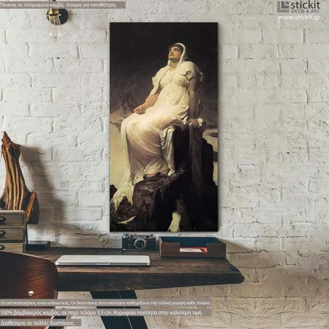 Canvas print The spirit of summit, Leighton Frederic