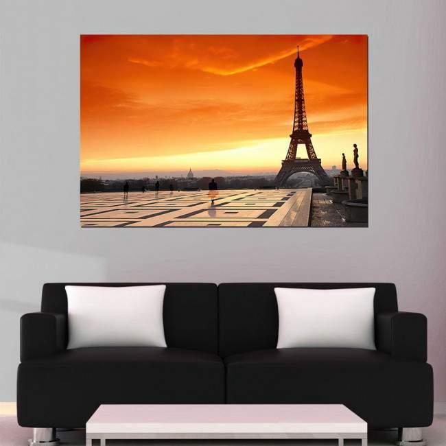 Canvas print Paris sunset, Eiffel sunset
