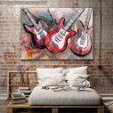 Canvas print Guitar music