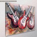 Canvas print Guitar music, side