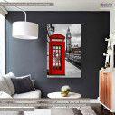 Canvas print London, Red London