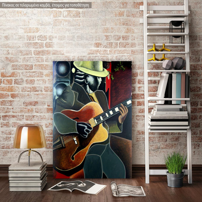 Canvas print Abstract guitarist