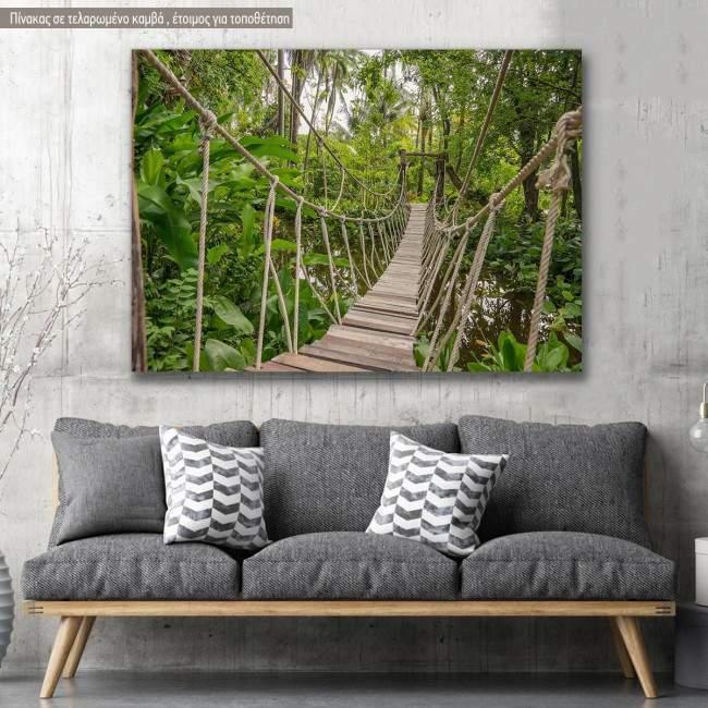 Πίνακας σε καμβά Γέφυρα, Rope bridge