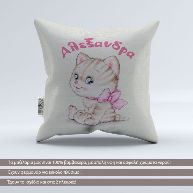 Pillow Smiley Cat