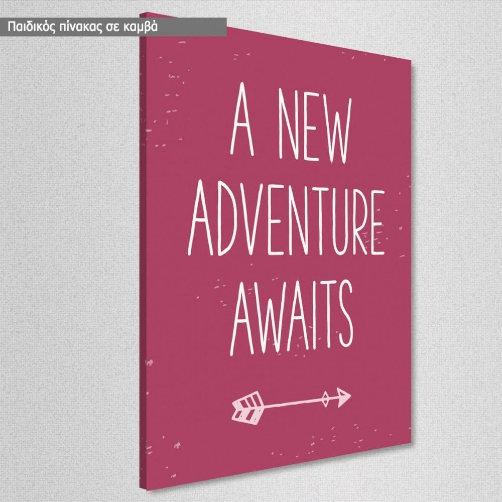 Kids Canvas Print A New Adventure Awaits Girly
