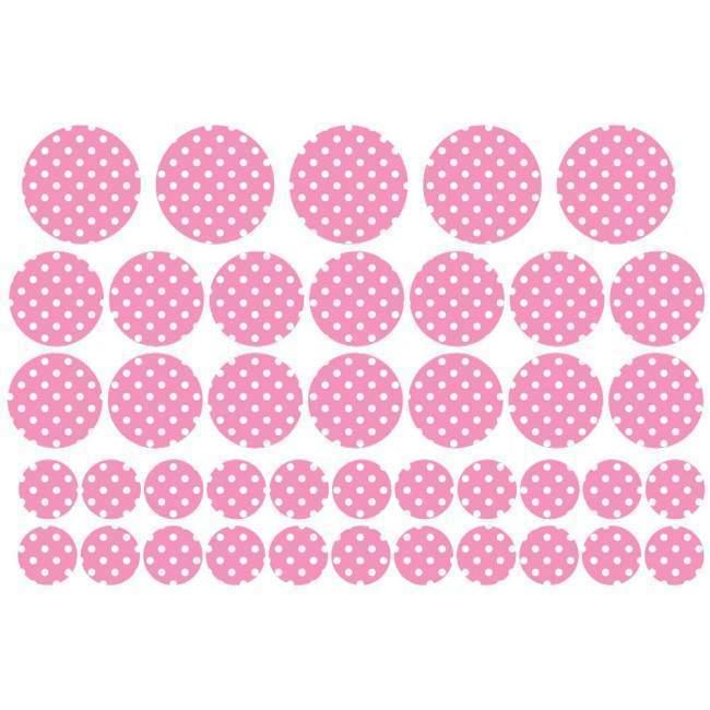 Κύκλοι πουά, αυτοκόλλητο τοίχου παιδικό