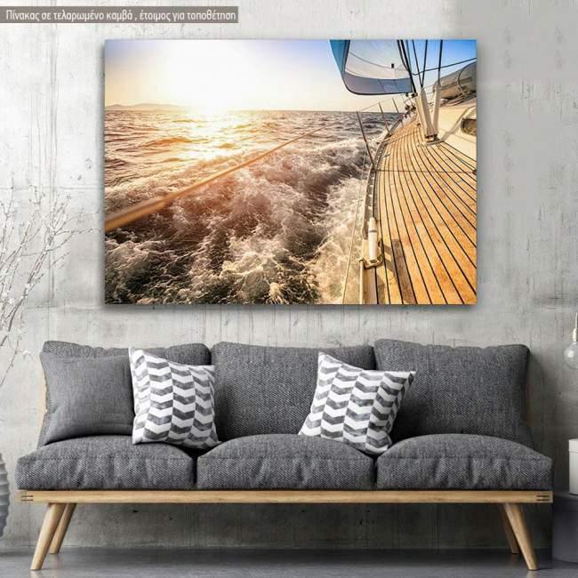 Πίνακας σε καμβά Καράβι στο ηλιοβασίλεμα, Sailing to sunset
