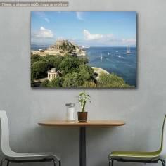 Πίνακας σε καμβά Κάστρο Κέρκυρας