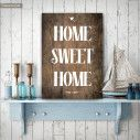 Home sweet home ξύλινη πινακίδα κάθετη