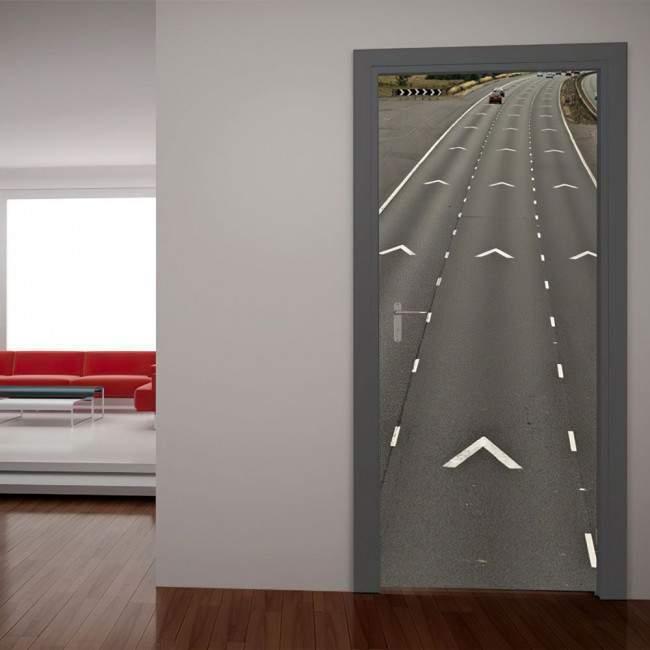Αυτοκόλλητο πόρτας Αυτοκινητόδρομος