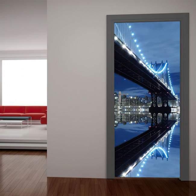 Αυτοκόλλητο πόρτας Γέφυρα του Manhattan