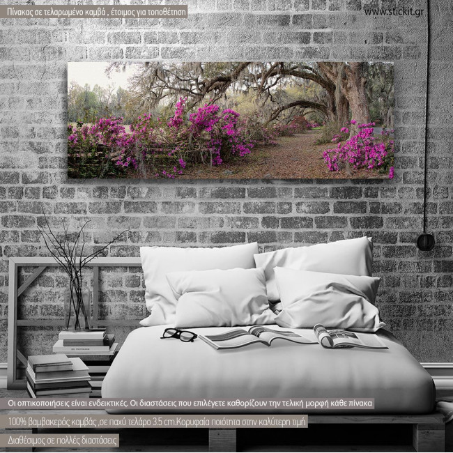 Canvas print Azaleas, panoramic