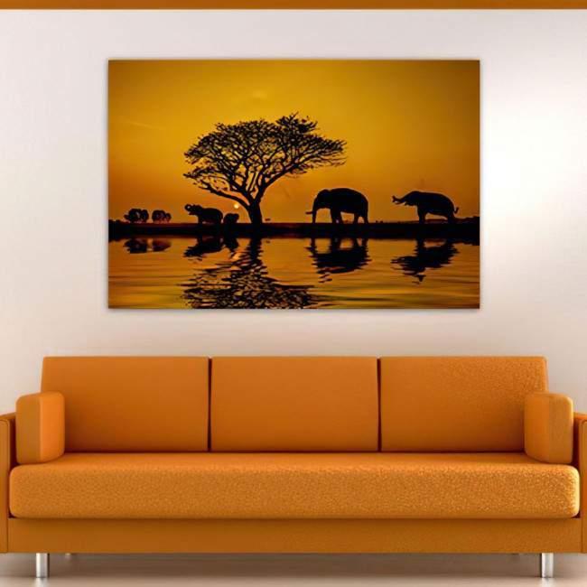 Πίνακας σε καμβά Αφρικανικό τοπίο