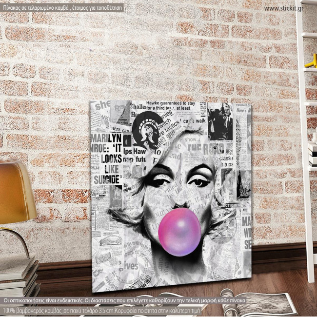 Canvas print Marylin pop art square