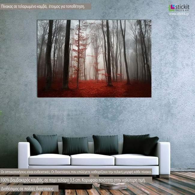 Πίνακας σε καμβά Δάσος, Η μαγεία της ομίχλης