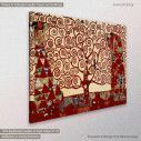 Canvas print Tree of life red, (original G. Klimt), reproduction, side