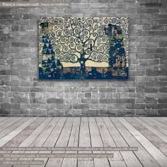 Πίνακας ζωγραφικής Tree of life blue, (original G. Klimt), αντίγραφο σε καμβά