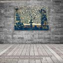 Canvas print Tree of life blue, (original G. Klimt), reproduction