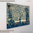 Canvas print Tree of life blue, (original G. Klimt), reproduction, side