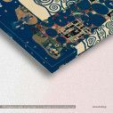Canvas print Tree of life blue, (original G. Klimt), reproduction, detail