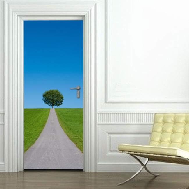 Αυτοκόλλητο πόρτας Ανηφορικός δρόμος