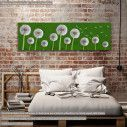 Canvas print Dandelions, panoramic