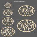 Ξύλινο διακοσμητικό αρχικά μονογράμματα