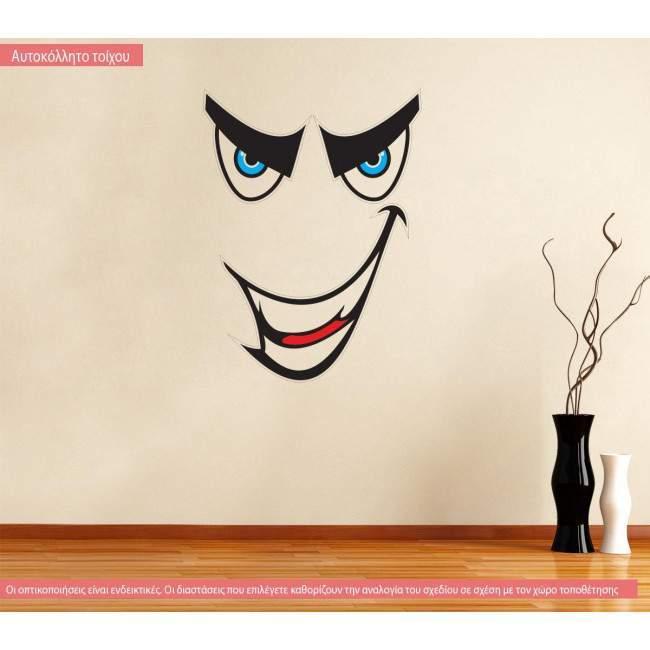 Αυτοκόλλητο τοίχου Γελαστή Φάτσα