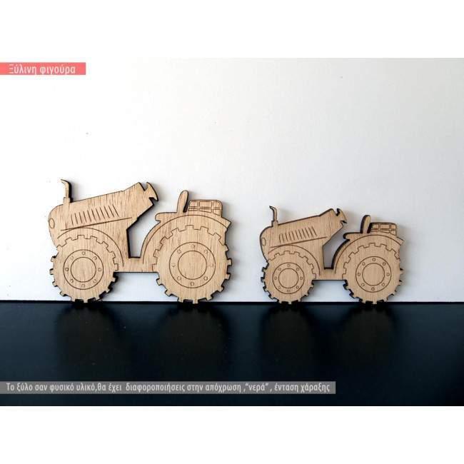 Wooden decorative figure Tractor