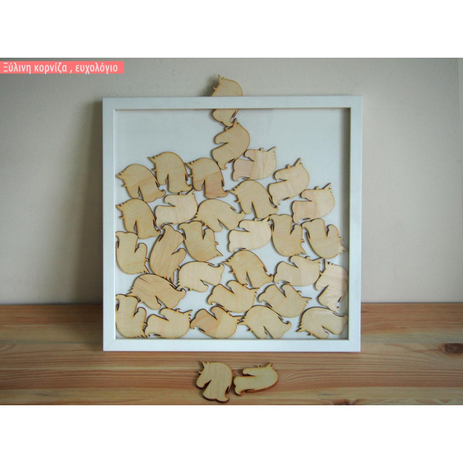 wooden wishes board Frame with unicorn