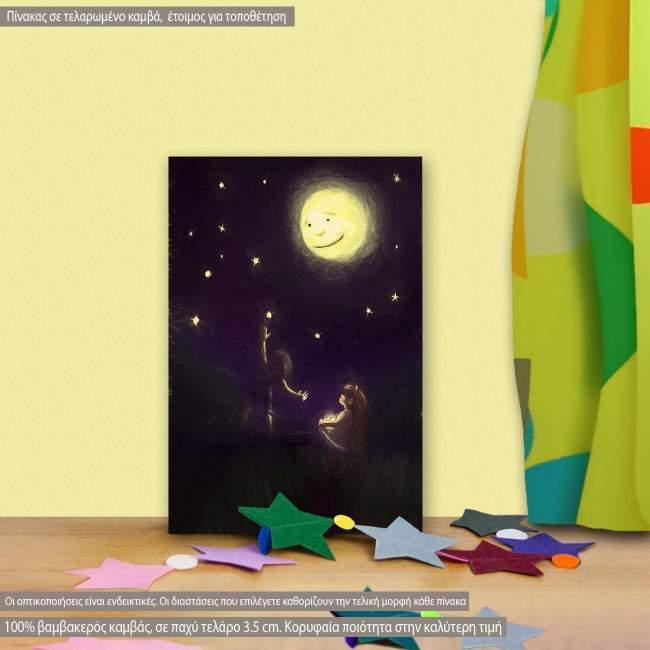 Πίνακας παιδικός σε καμβά Reach the stars