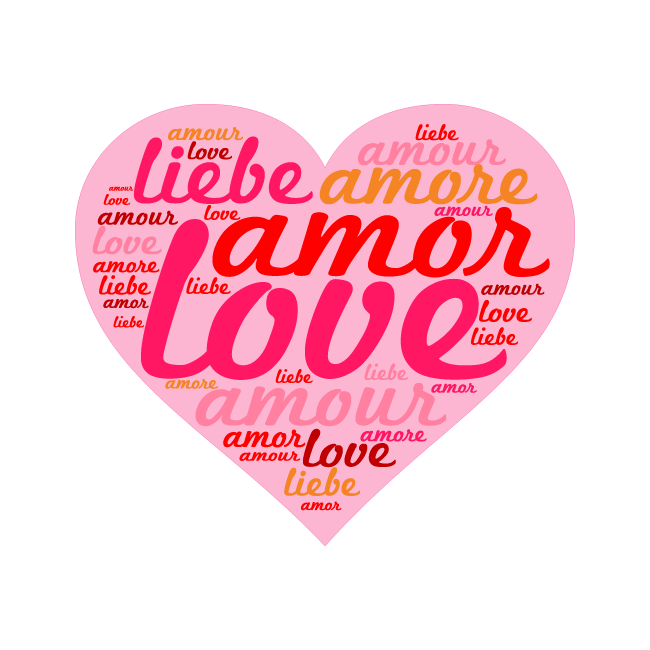Wall stickers phrases, Love, heart